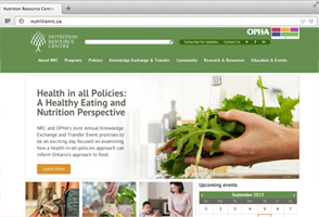Nutrition Resource Centre website