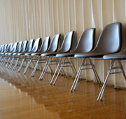 A row of chairs